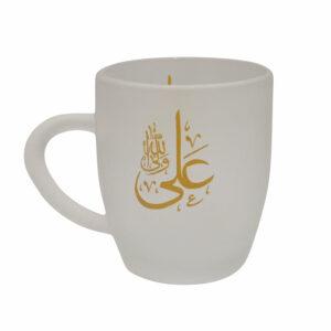 01320405-لیوان شیشه ای مذهبی کوتاه/علی ولی الله طلایی